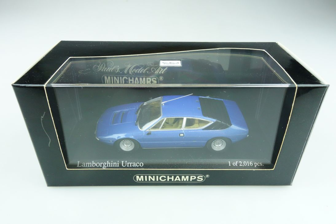 400103322 Minichamps 1/43 Lamborghini Urraco 1974 blue Acapulco mit Box 511746