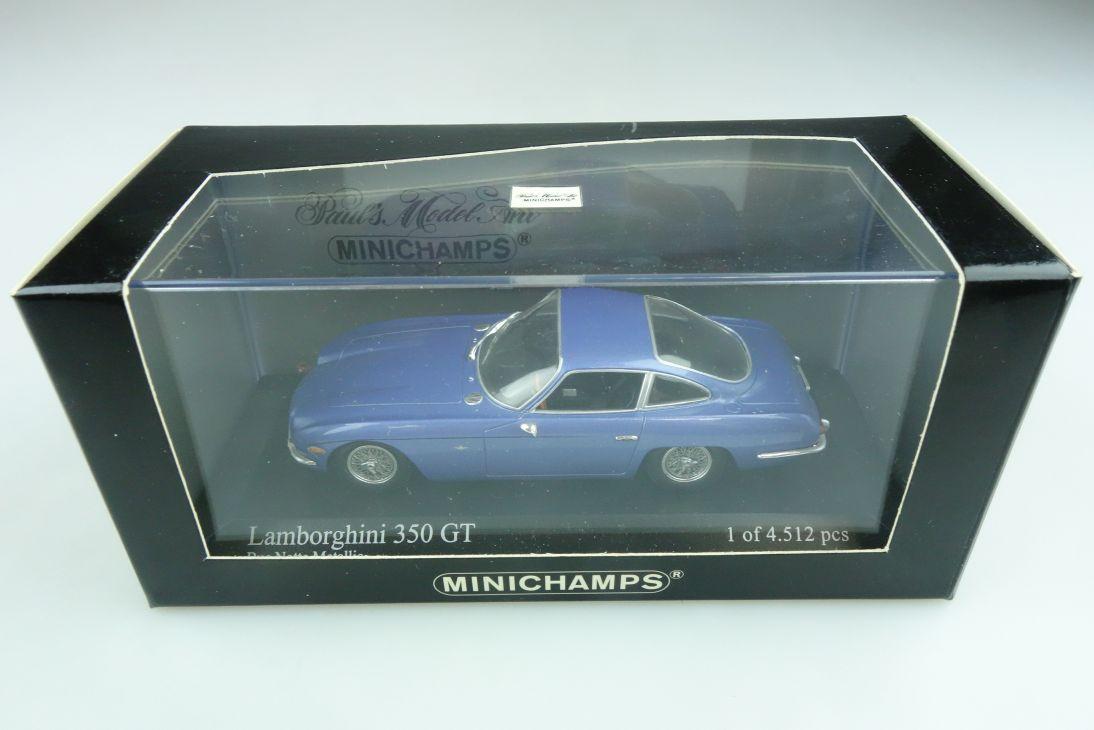 400103200 Minichamps 1/43 Lamborghini 350 GT Coupe bluemet. mit Box 511748