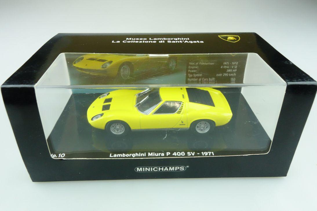 436103650 Minichamps 1/43 Lamborghini Miura P 400 SV Museo Sant'Agata Box 511752