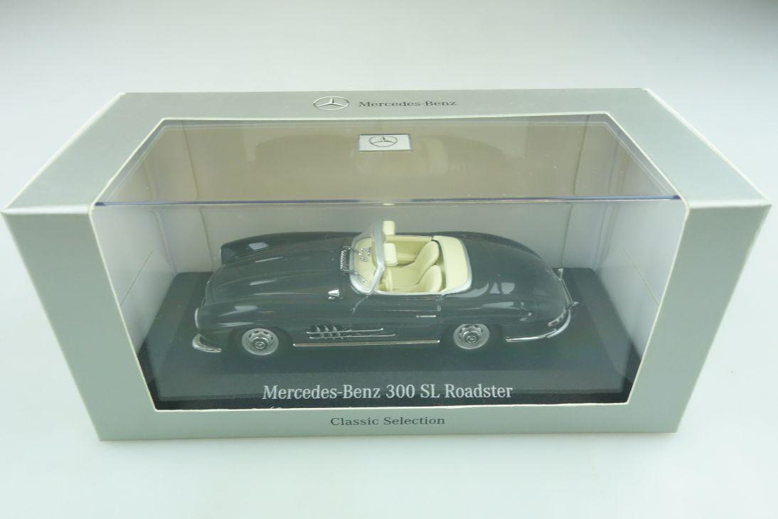 1422 Minichamps 1/43 Mercedes Benz 300 SL Roadster graphite grey m.Box 511756
