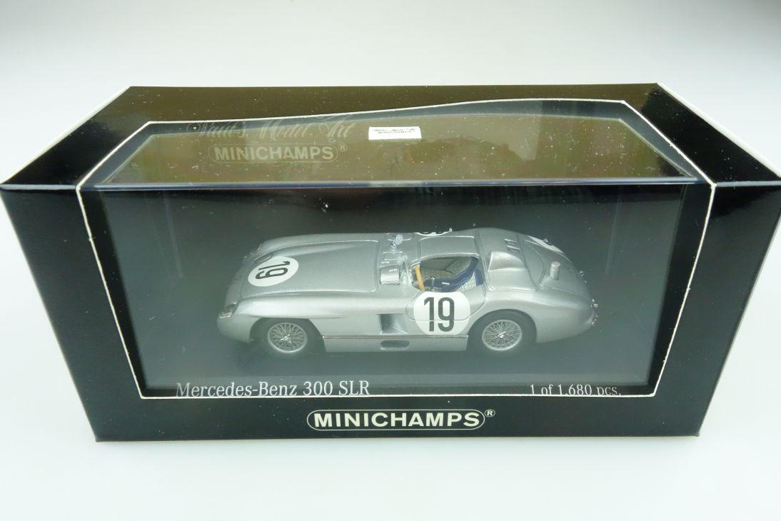553000 Minichamps 1/43 Mercedes Benz 300 SLR Le Mans 1955 mit Box 511763