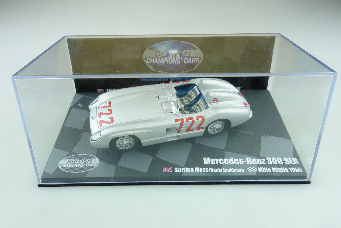 British Champions 1/43 Mercedes Benz 300 SLR Mille Miglia 1955 mit Box 511764
