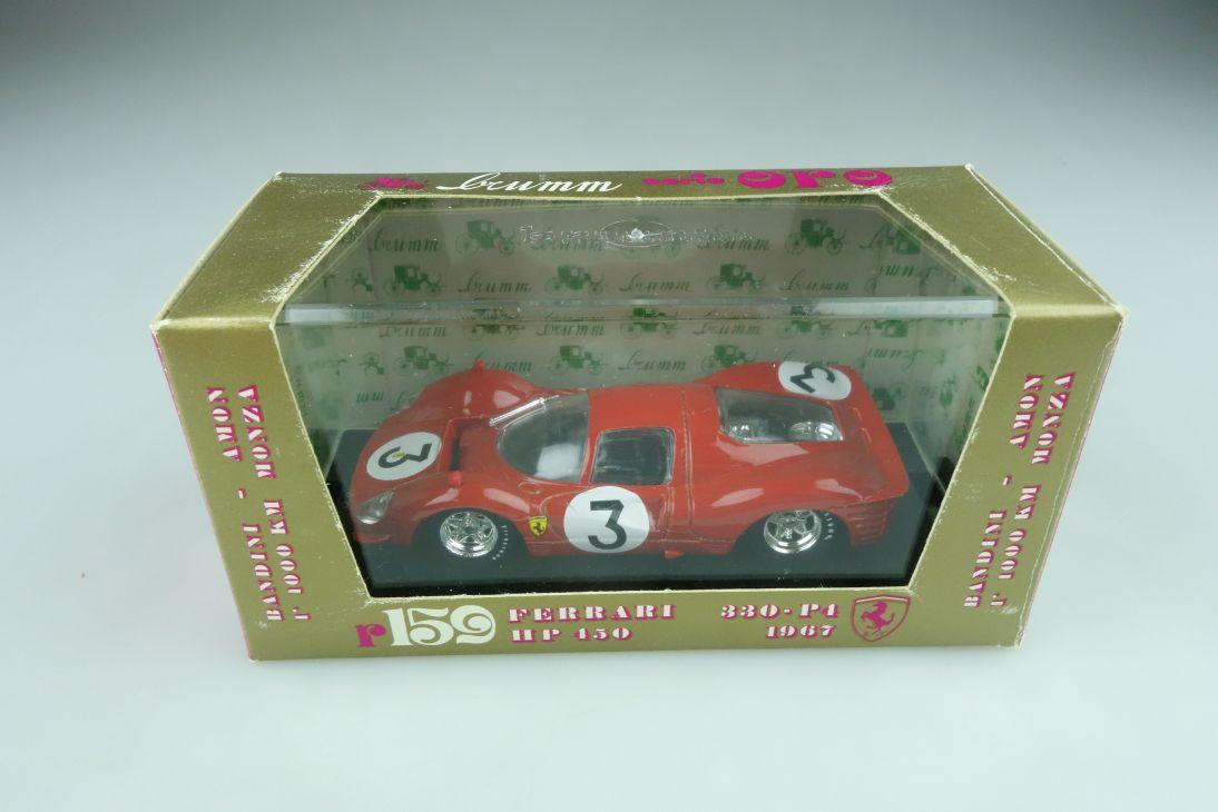 159 Brumm 1/43 Ferrari 330 P4 HP 450 Monza 1967 Bandini Amon mit Box 511772