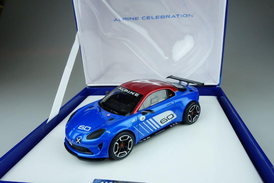 Alpine 1/43 Norev A60 Celebration 2015 blue resin model Händlerbox 108788