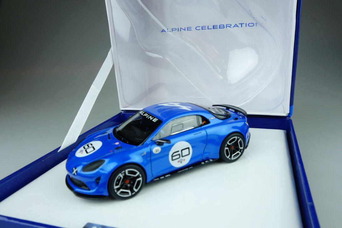 Alpine 1/43 Norev Alpine A60 Celebration 2015 blue resin model Händlerbox 108789
