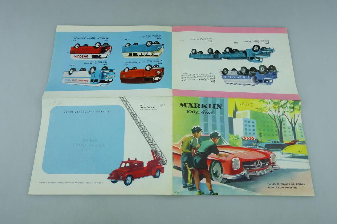 8000er Serie Märklin 1/50 französischer Katalog 100 Ans seltenes Original 511800