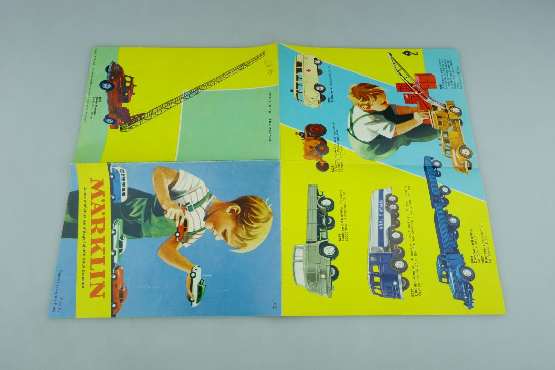 8000er Serie Märklin 1/50 französischer Katalog 1962 seltenes Original 511802