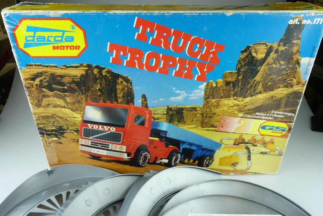 171 Darda ca.1/64 Truck Trophy Rennbahn Komplettset m. LKW selten mit Box 511811