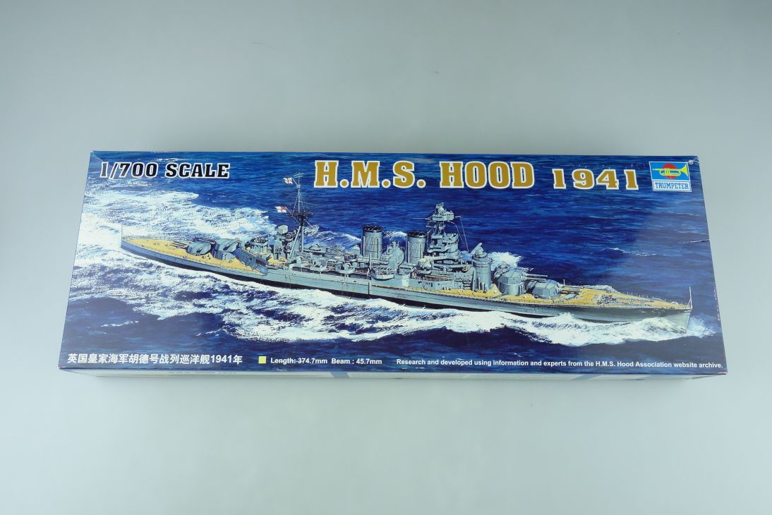 Trumpeter 1/700 H.M.S. Hood 1941 No. 05740 vintage model kit 108757