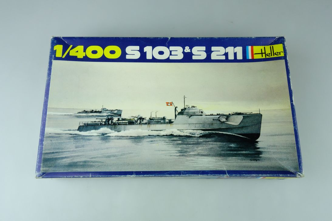 Heller 1/400 S 103 & S 211 No. 1057 vintage model kit 108829