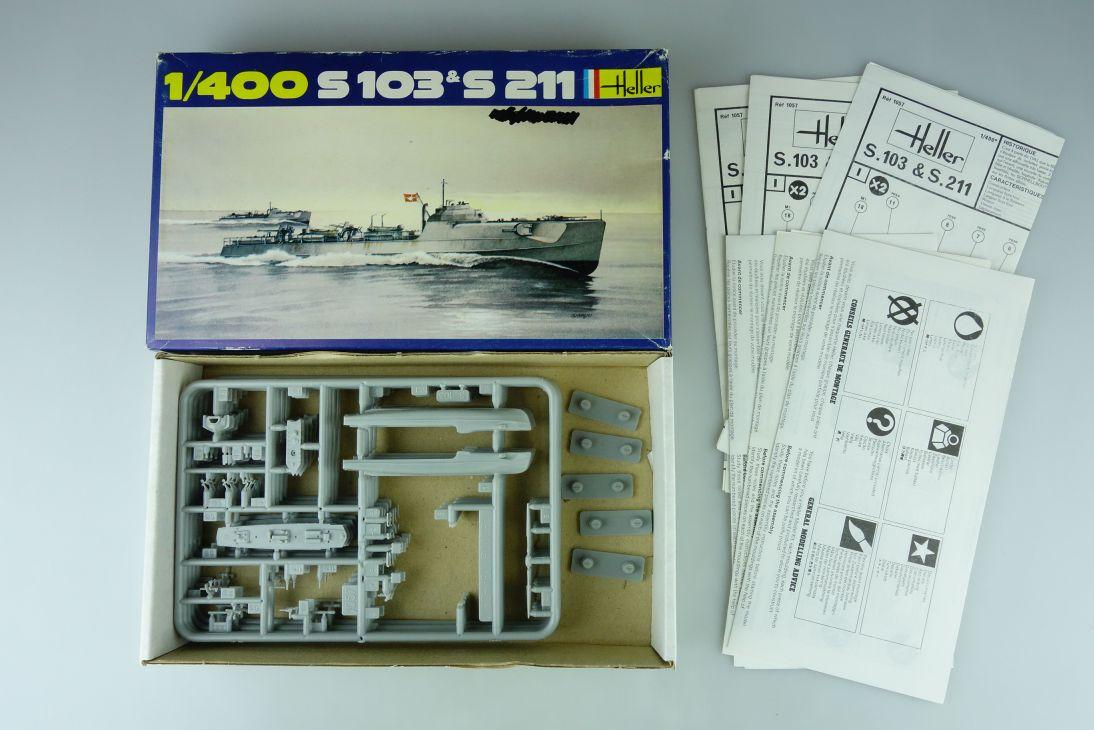 Heller 1/400 5x S 103 & S 211 No. 1057 vintage model kit 108830