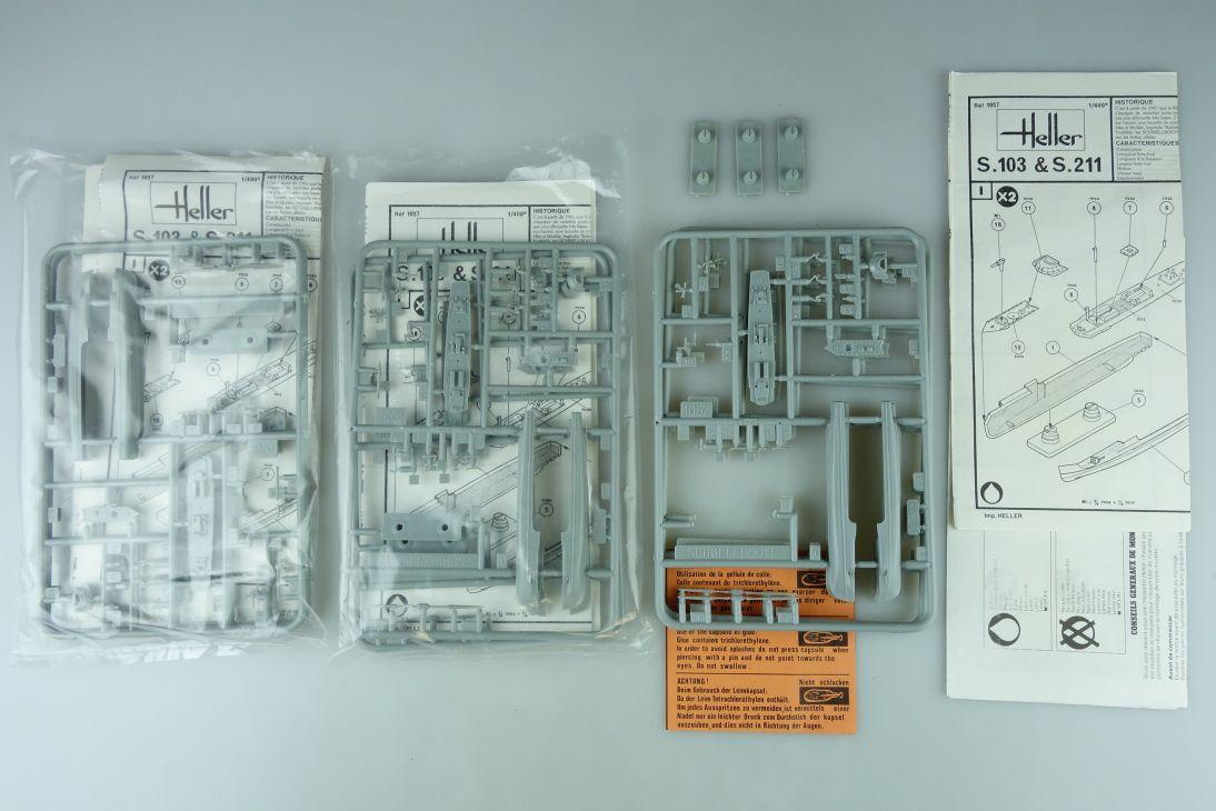 Heller 1/400 7x S 103 & S 211 No. 1057 vintage model kit 108831