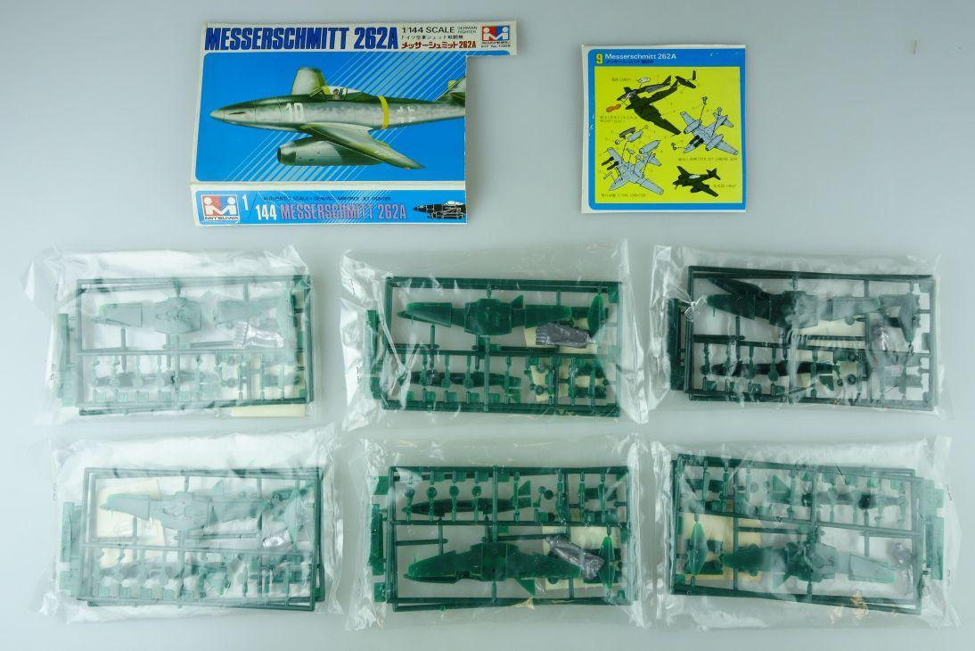 Mitsuwa 1/144 6x Messerschmitt 262A No. 1009 prop plane kit 108840