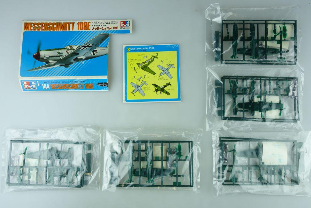 Mitsuwa 1/144 5x Messerschmitt 109E No.1008 prop plane kit 108841