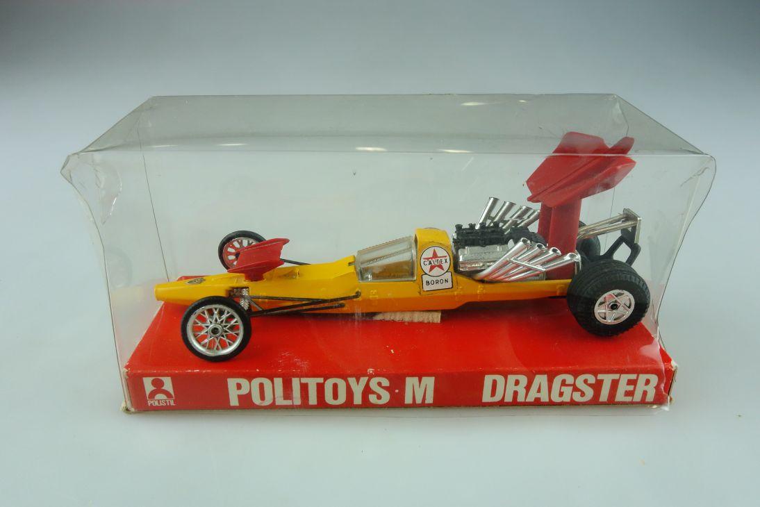 602 Politoys M 1/43 Dragster Caltex Boron Racer Veloce del Mondo mit Box 511815