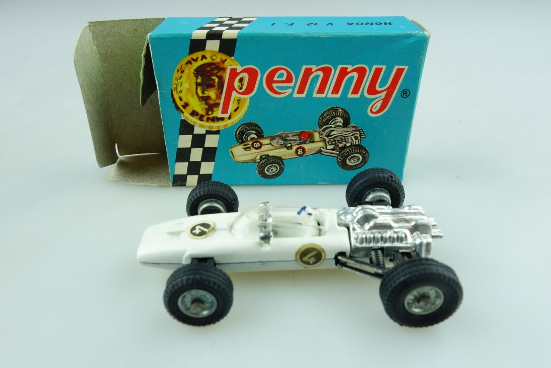 Polistil Penny ca.1/64 Honda V 12 Formel 1 Rennwagen Racer mit Box 511880