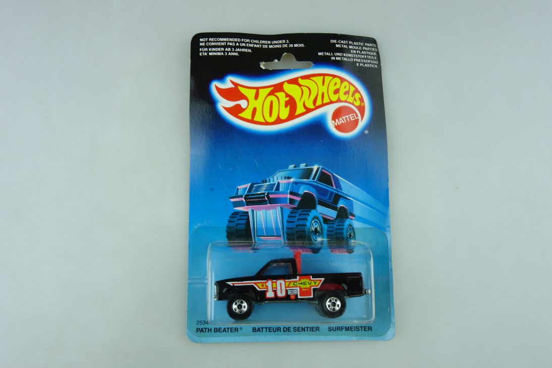2534 Hot Wheels 1/64 Chevrolet Pickup Path Beater Malaysia 1987 mit Box 511919