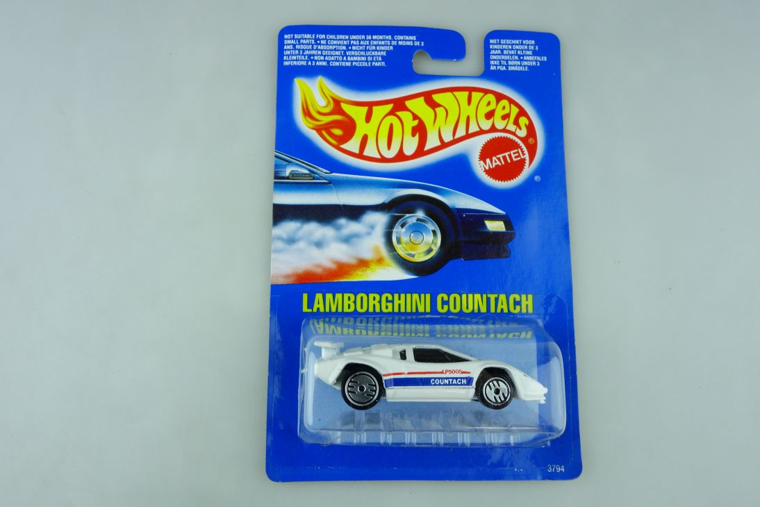 3794 Hot Wheels 1/64 Lamborghini Countach Coupe Malaysia 1989 mit Box 511927