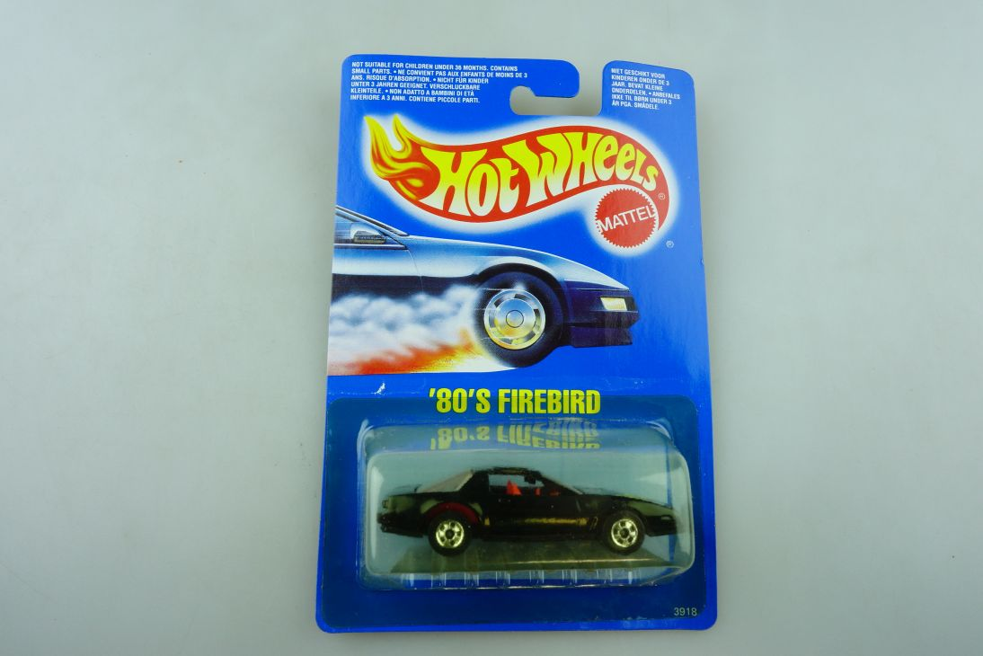 3918 Hot Wheels 1/64 Pontiac Firebird 80's Coupe Malaysia 1989 mit Box 511934