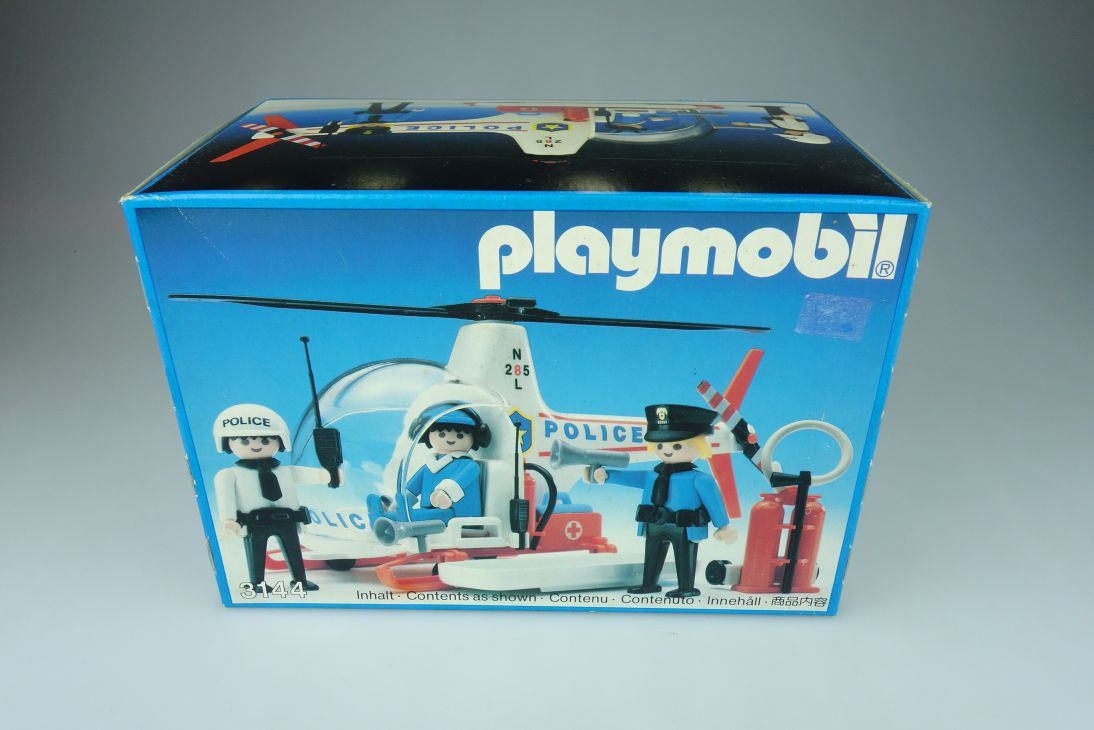 Playmobil Set No: 3144 Police Helicopter 1988 sealed vintage OVP 108901