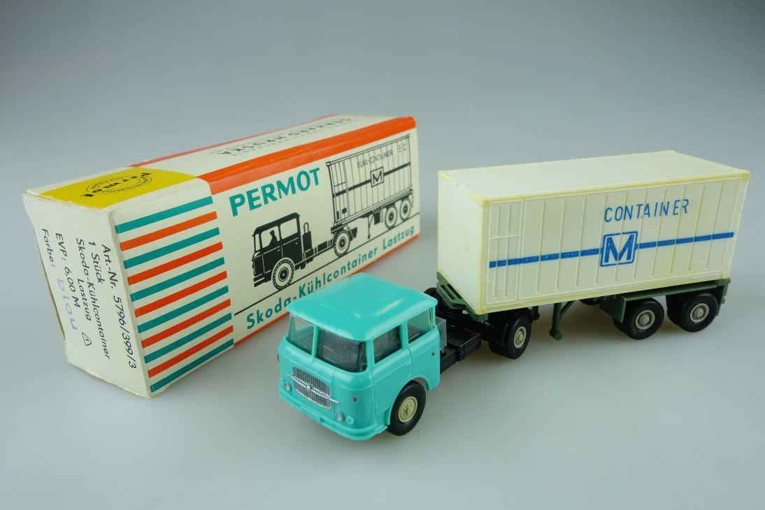 Permot Hruska H0 Skoda Kühlcontainer Lastzug altes FH + Box 108931