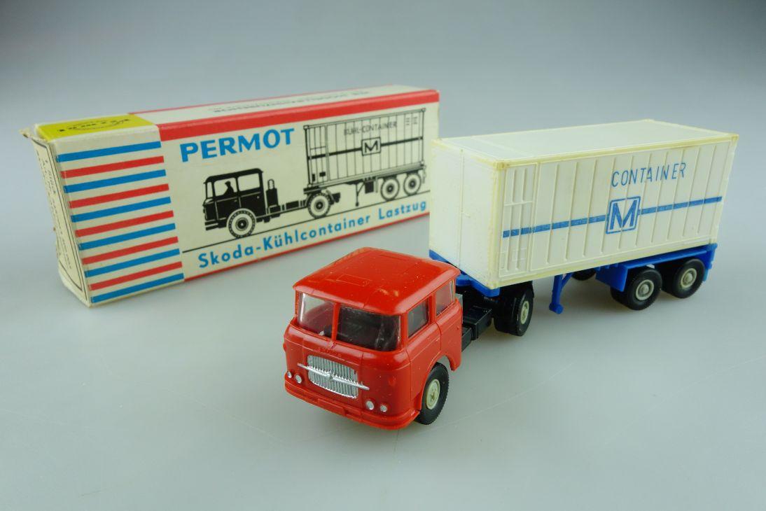 Permot Hruska H0 Skoda Kühlcontainer Lastzug altes FH + Box 108932