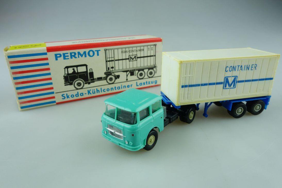 Permot Hruska H0 Skoda Kühlcontainer Lastzug altes FH + Box 108933