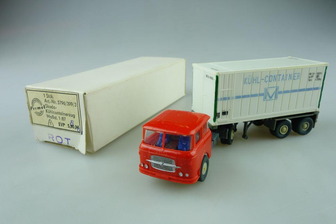 Permot Hruska H0 Skoda Kühlcontainer Lastzug altes FH + Box 108934