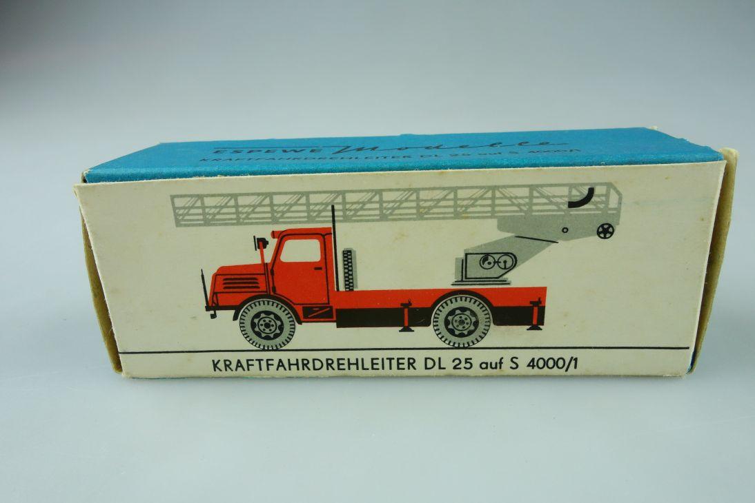 Espewe 1014/3 LEERE EMPTY BOX Kraftfahrdrehleiter DL 25 S 4000/1 H0 DDR 108945