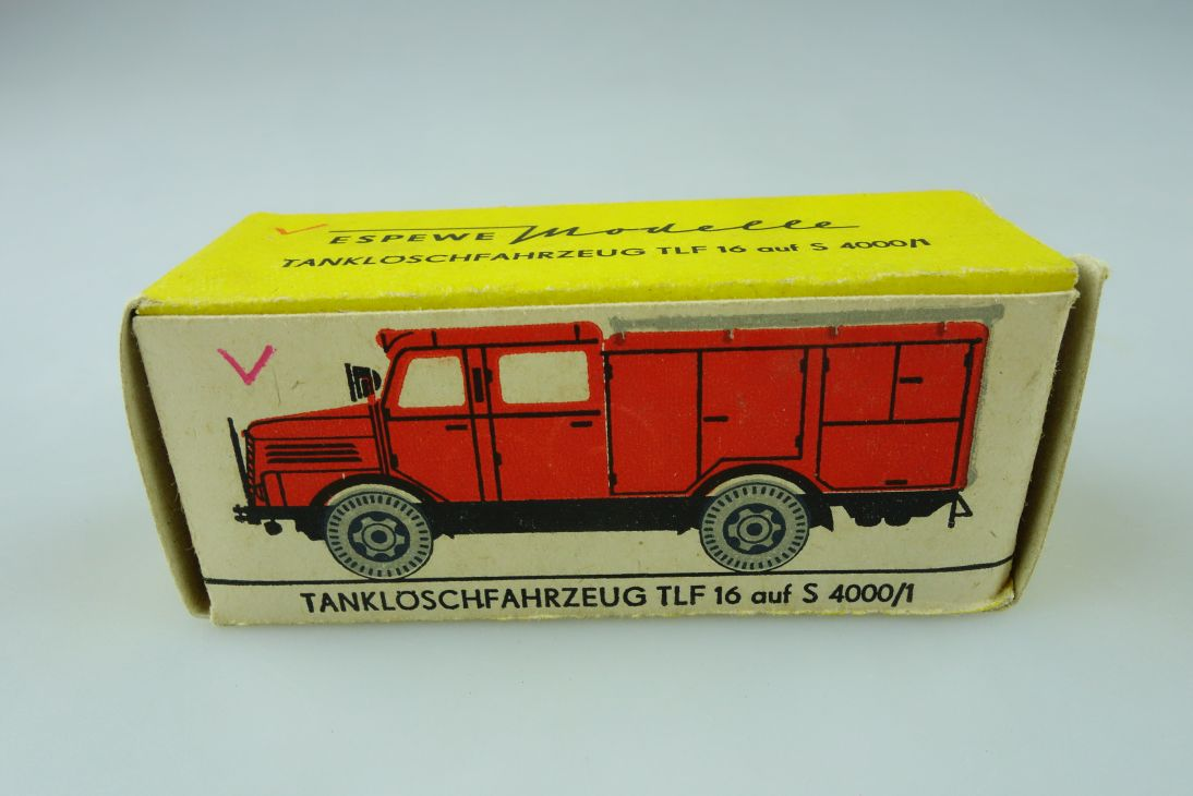 Espewe 1014/2 H0 LEERE empty BOX Tanklöschfahrzeug TLF 16 S 4000/1 DDR 108948