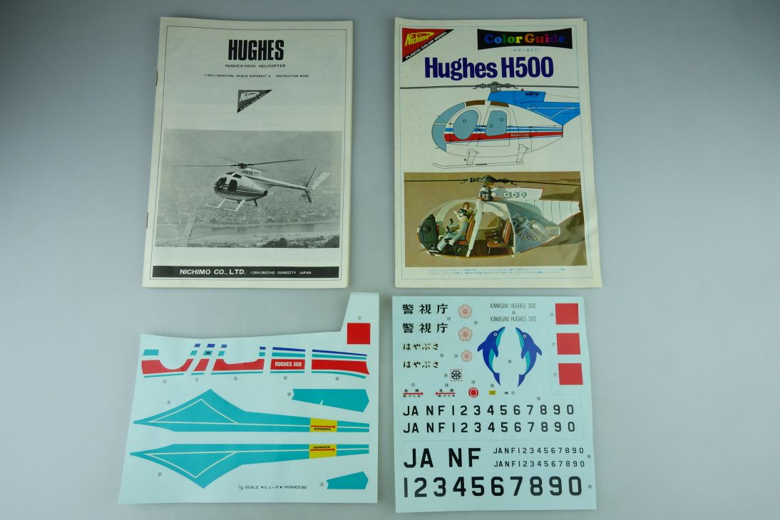 Nichimo 1/20 Hughes H500 Helicopter Decals Bauanleitung Color Guide 108952