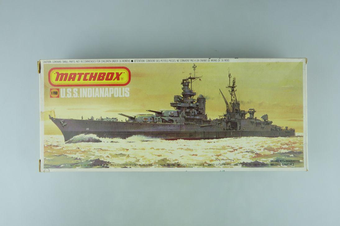 Matchbox 1/700 U.S.S. Indianapolis PK-165 vintage model kit OVP 108963