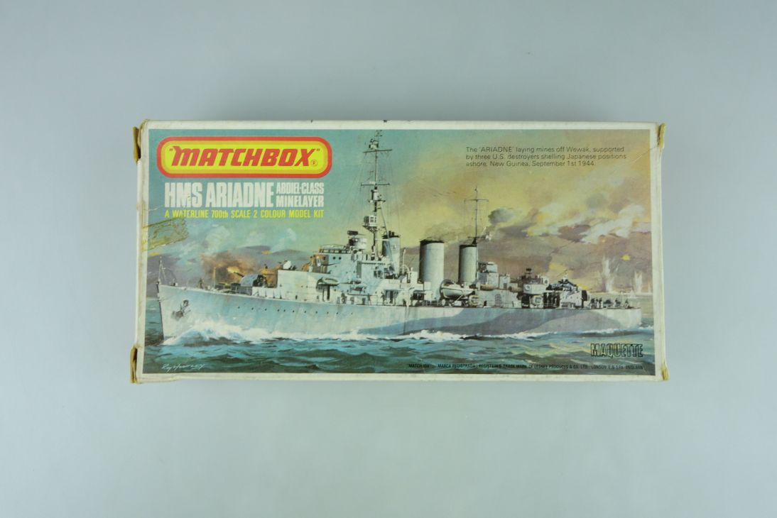 Matchbox 1/700 HMS Ariadne Minelayer PK-61 vintage model kit OVP 108975