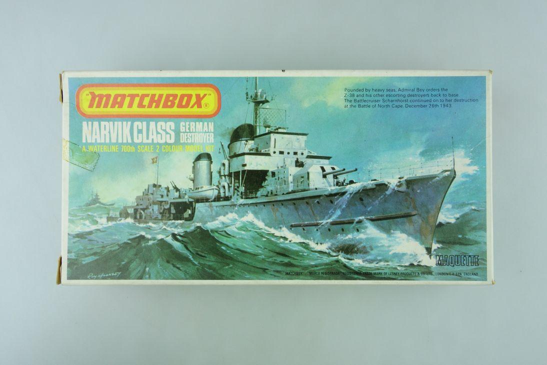 Matchbox 1/700 Narvik Class German Destroyer/ Z-38 PK-62 vintage kit OVP 108977