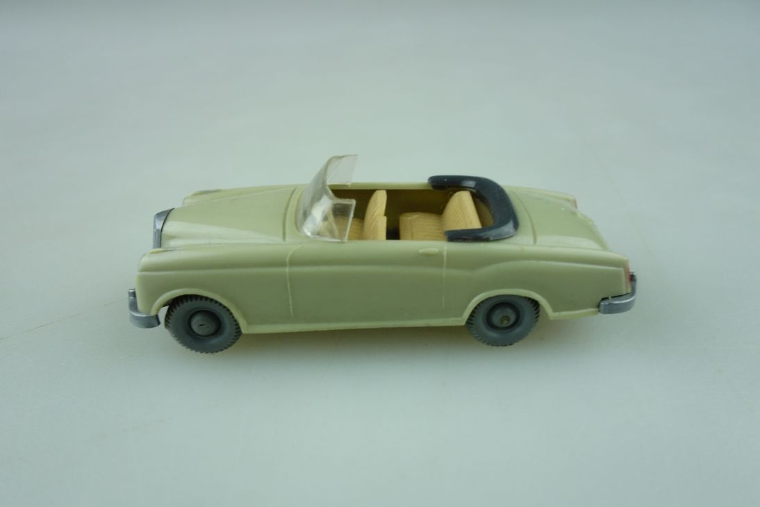 Saure 376 Wiking 1/87 Mercedes Benz 220 Ponton Cabrio hellgelbgrau o. Box 512029