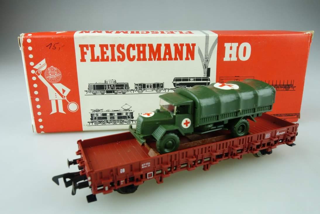 Fleischmann H0 DC Rungenwagen Rk-LKW Roskopf 5222 OVP PTa 108993