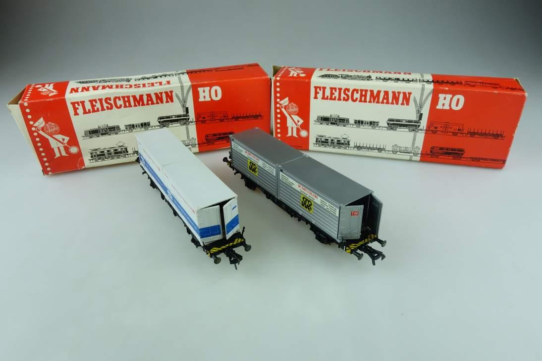 Fleischmann H0 DC Konvolut Container/Güterwagen 5234/5235 OVP PTa 108994