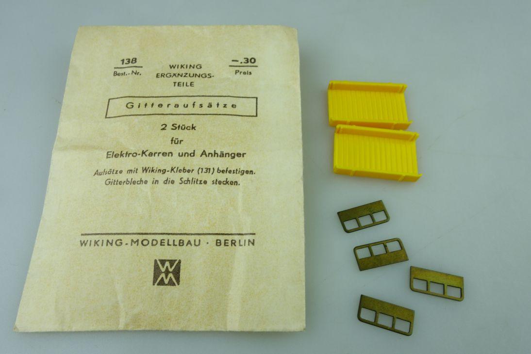 Saure 1359 Wiking 1/87 Gitteraufsätze für Elektrokarren mit Tüte Box 512060