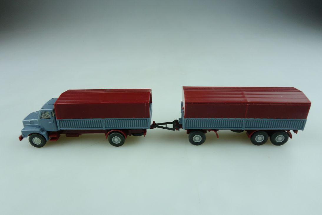 462 Wiking 1/87 Volvo N10 Stahlpritschen Lastzug mit Plane ohne Box 512066