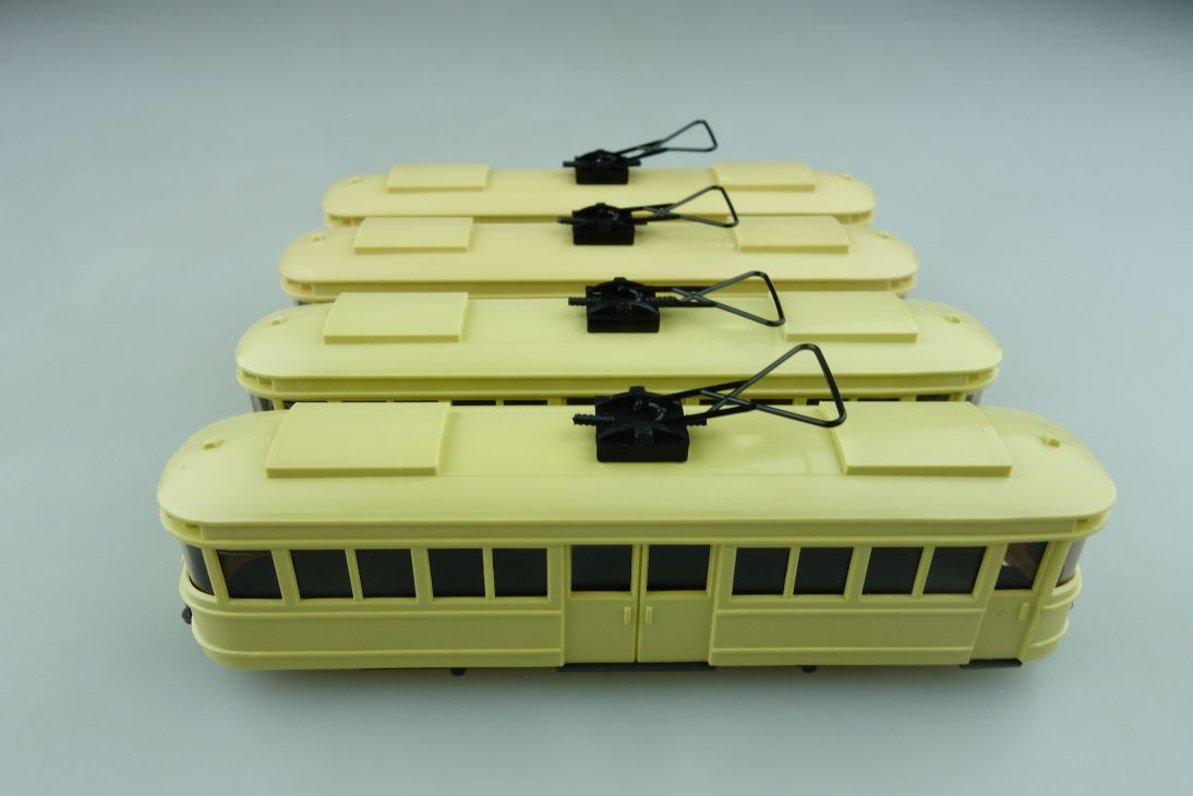750 Wiking 1/87 Veteran Straßenbahn Triebwagen Konvolut ohne Box 512067