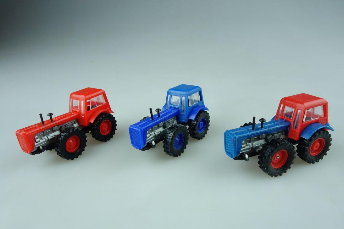 3x Espewe 1/87 D4K Diesel Traktor Schlepper verschiedene Farben DDR VEB 109012