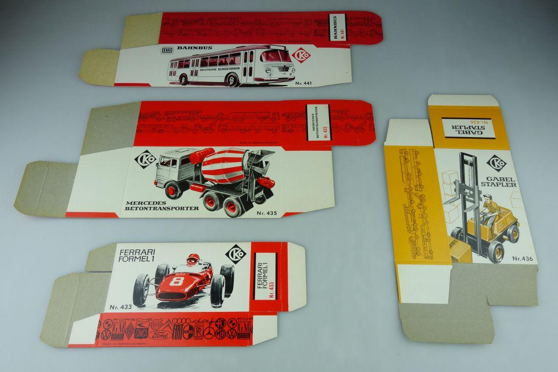 CKO Kellermann 4x LEERE Box 433 Ferrari 436 Gabelstapler 441 Bahnbus 435 109021