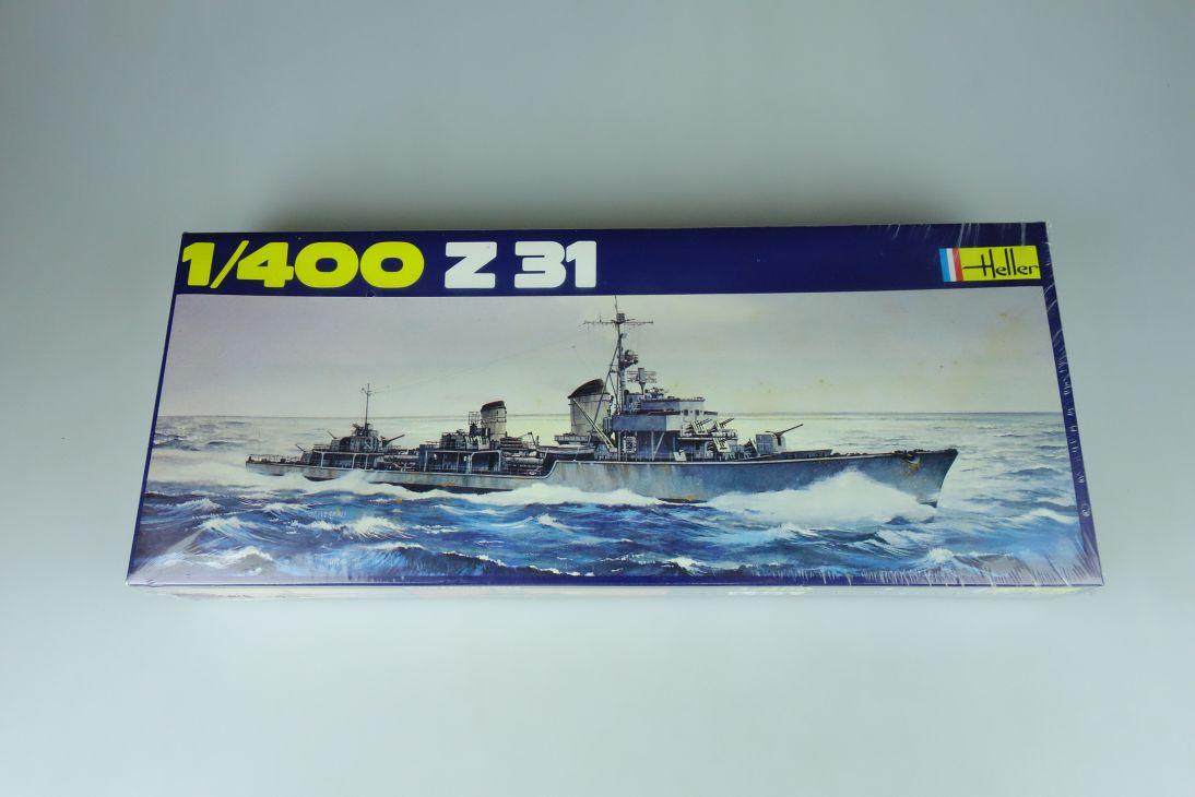 Heller 1/400 Z31 Militär Schiff No1048 in Folie model kit 109039
