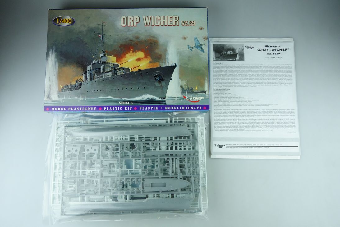 Mirage Hobby 1/400 Konvolut 3x ORP Wicher Wz.39 No 40065 kit +1x Variante 109042