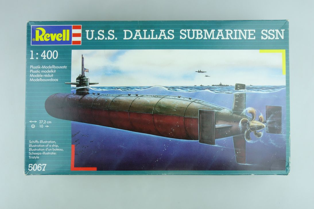 Revell 1/400 Konvolut 2x Dallas Submarine 5067 + 2x Los Angeles 5074 kit 109043