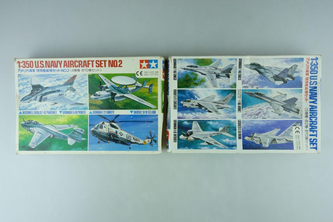 Tamiya 1/350 Konvolut U.S. Navy Aircraft Set+ Set No.2 780006+78009 kit 109052