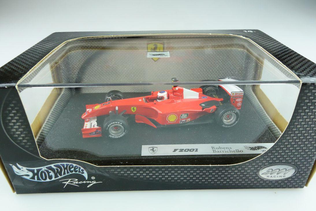 50214 Hot Wheels 1/43 Ferrari F 2001 Formel 1 Rubens Barrichello mit Box  512137
