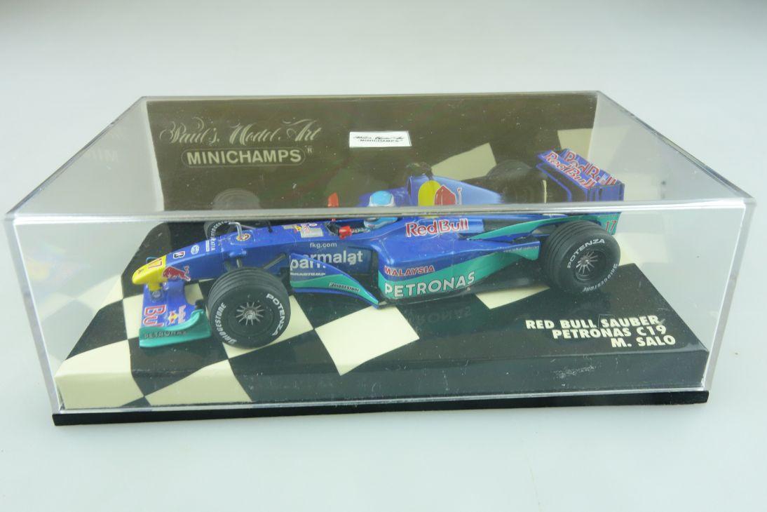 Minichamps 1/43 Sauber Petronas C 19 M.Salo 2000 Formel 1 mit Box 512173