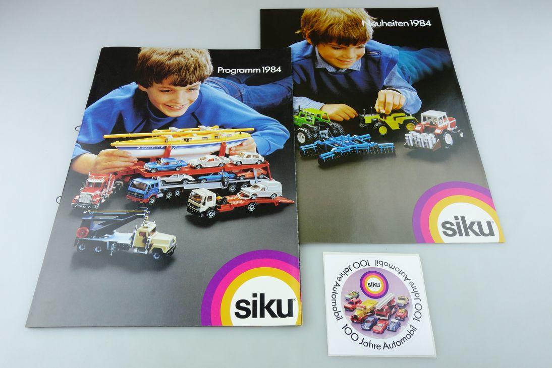 Siku Super Serie Programm Heft 1984 32S DinA4 Neuheiten Sticker 100 Jahre 109082