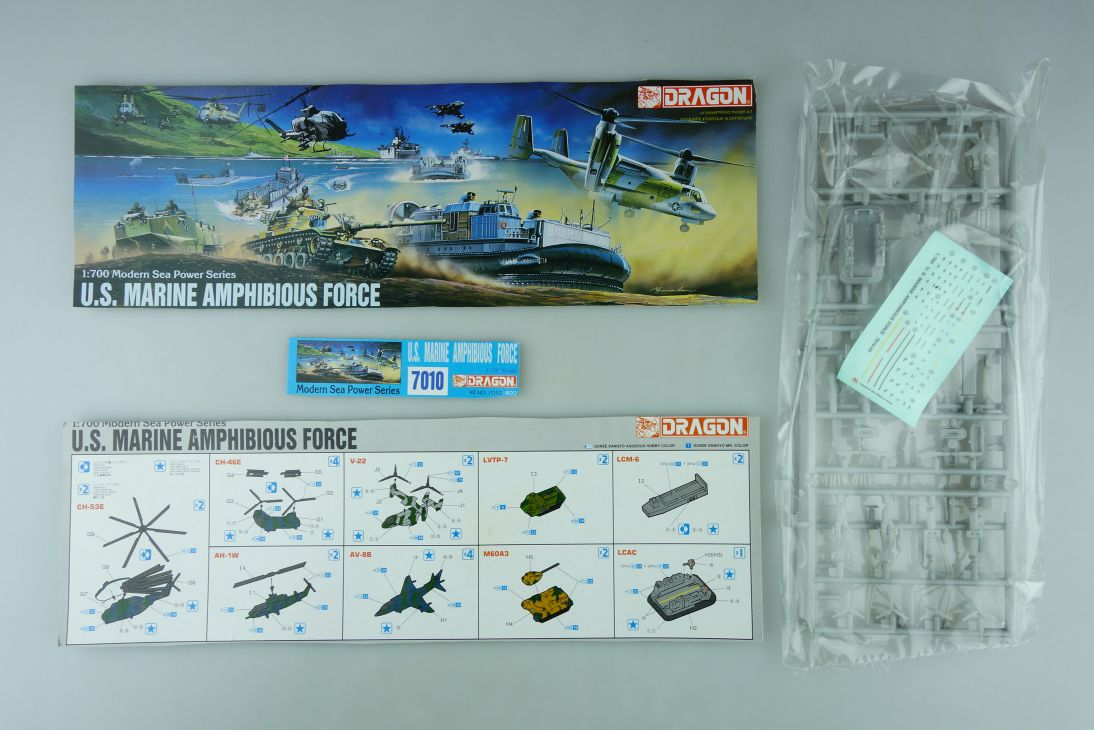 Dragon 1/700 U.S. Marine Amphibious Force No. 7010-800 model kit 109130
